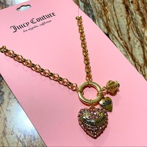 Juicy Couture Gold-Tone Heart Charm Necklace